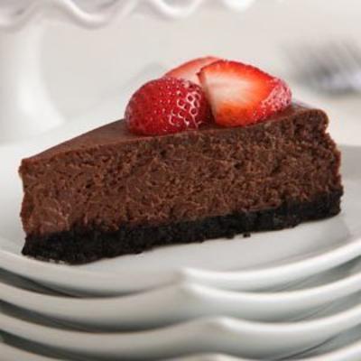 notre meilleur cheesecake au chocolat