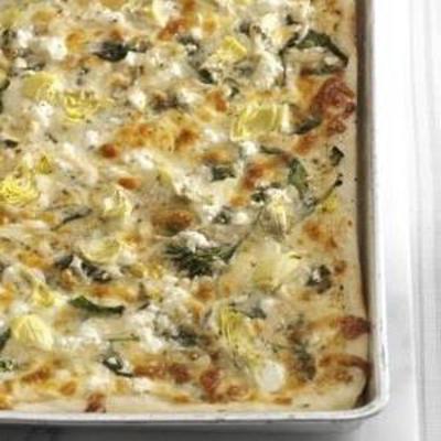 super pizza aux artichauts aux épinards
