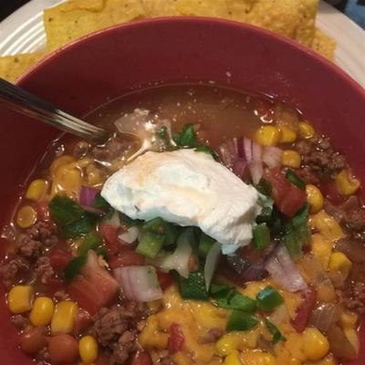 soupe de tacos au texas