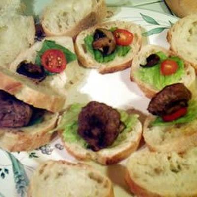 hamburgers sur des baguettes
