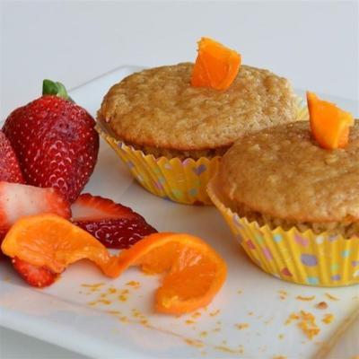 muffins à l'avoine orange