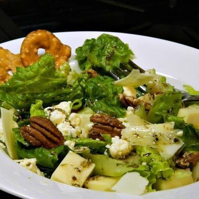 salade verte aux trois fromages