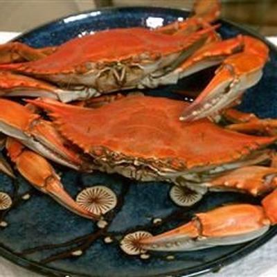 ébullition de crabe bleu