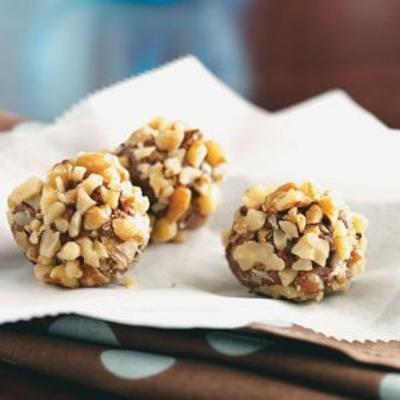 truffes au chocolat et à l'érable