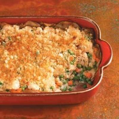 casserole de poulet en croûte de pomme de terre rôtie