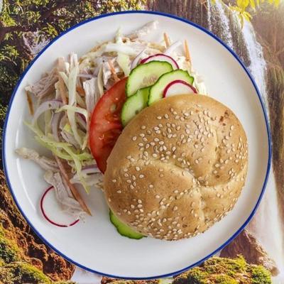 sandwichs à la dinde et curtido