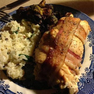 poulet au bacon farci aux épinards et à la ricotta