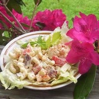 salade de bacon et macaronis