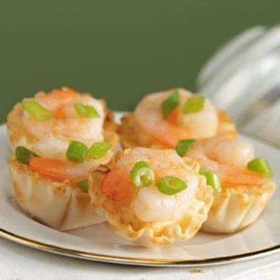 mini crevettes et coquillages