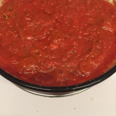 pas de sauce tomate aux pâtes