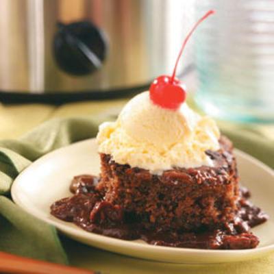 gâteau cuillère fudge rhum et cerise cola