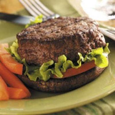 hamburgers farcis sur des portabellas