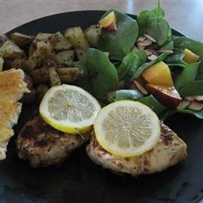 poulet mariné citron romarin