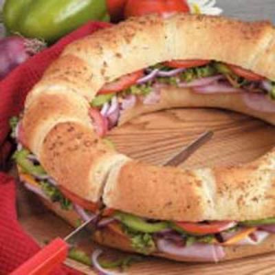 anneau de sandwich salé