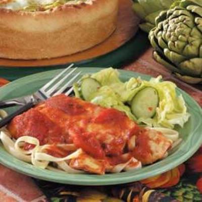 poulet tomates artichauts