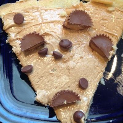 pizza au dessert coupe beurre d'arachide