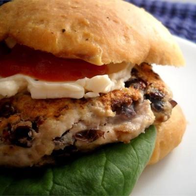 hamburgers à la dinde aux haricots noirs