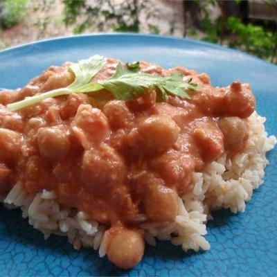 curry de pois chiche aux arachides et au gingembre