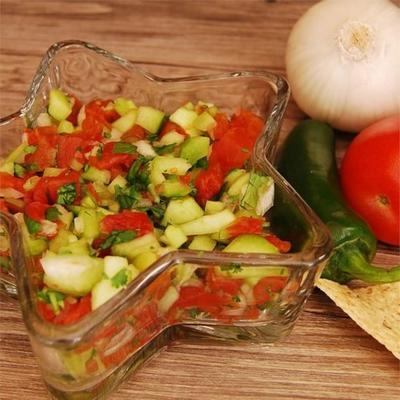 salsa de concombre fraîche et légère