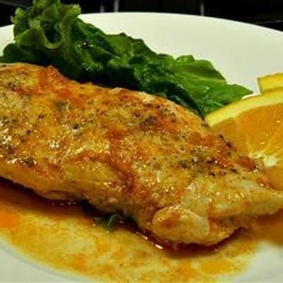 poulet au four glacé à l'orange