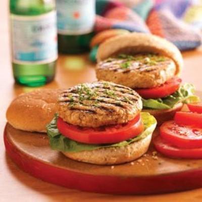 hamburgers juteux à la dinde