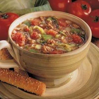 soupe campagnarde au chou