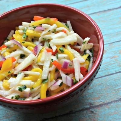 salade de mangue jicama à la coriandre et citron vert