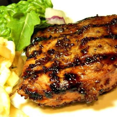 côtelettes de porc grillées dijon