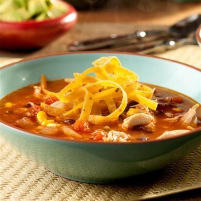 soupe de tortilla mexicaine épicée