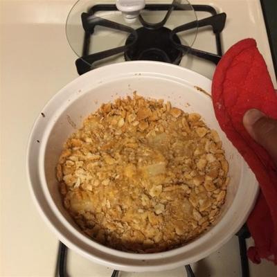 ananas cuit au four avec des craquelins