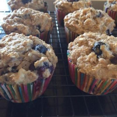 muffins à la banane bleuets et à la noix de coco