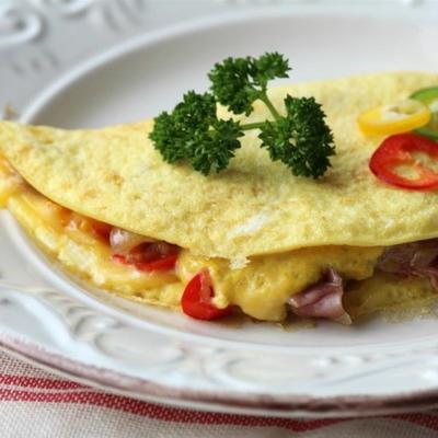 omelette prosciutto et oignons