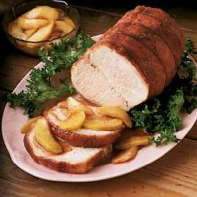 rôti de porc aux pommes épicées