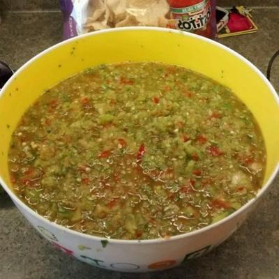 salsa aux tomates vertes épicées