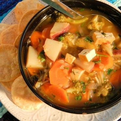 soupe de nouilles au tofu