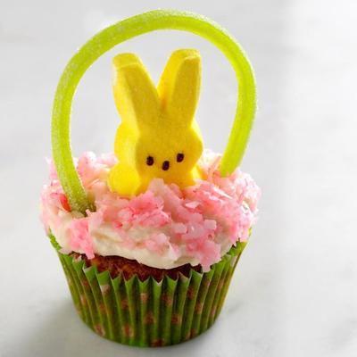 cupcakes panier de Pâques