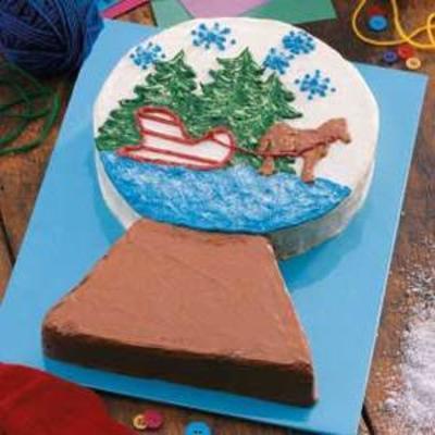 gâteau globe de neige