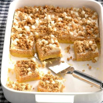 tablettes de gâteau au fromage à la patate douce