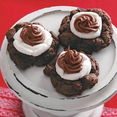 biscuits au cacao / à la guimauve