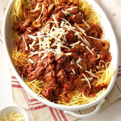 sauce à spaghetti zippée