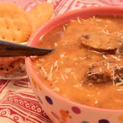 soupe végétarienne à la citrouille