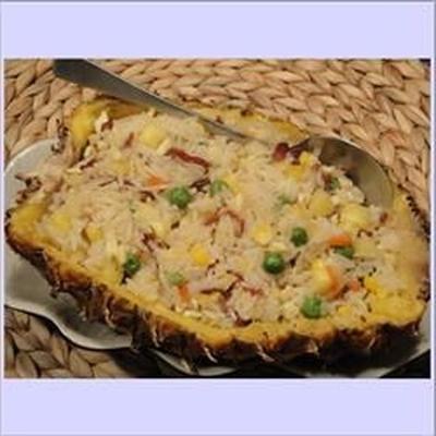 riz au four à l'ananas (plat principal pour le nouvel an chinois)
