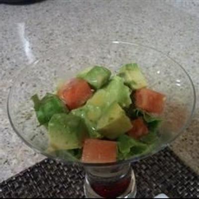 salade d'avocat et de melon d'eau à rafraîchir