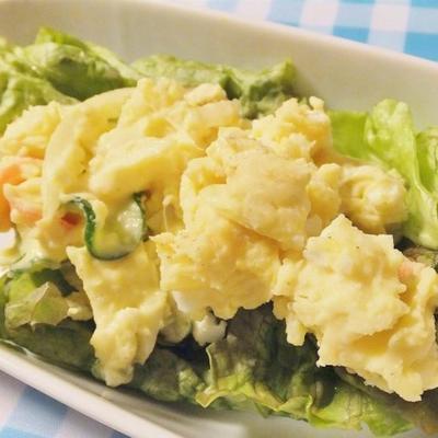 salade de pommes de terre de ma mère avec carotte et oeuf