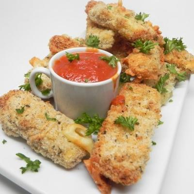 bâtonnets de mozzarella frits à l'air
