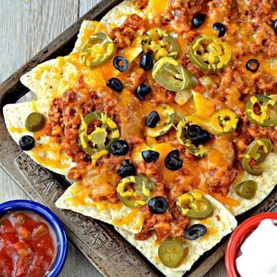 nachos à fond plat