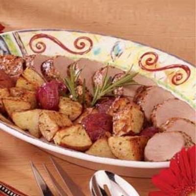 Filet de porc aux pommes de terre rôties