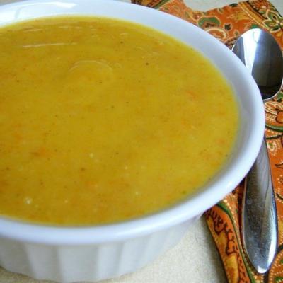 soupe de courge poivrée rôtie