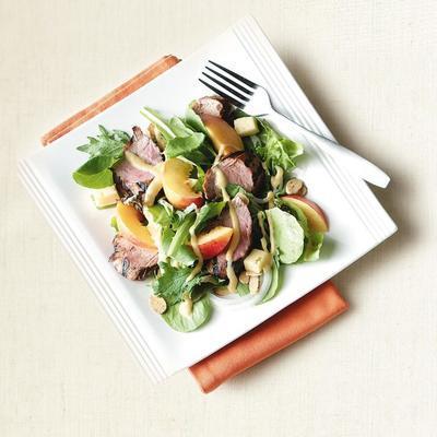 salade de porc nectarine