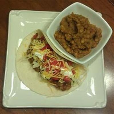 taco végétalien aux lentilles 'viande'